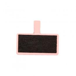 Mini Quadro Negro de Madeira Retangular Rosa - Pequeno