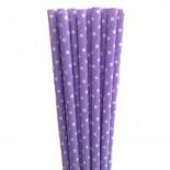 Canudos de Papel Mini Po‡á Violeta 20 Uni