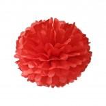 Pompom de Papel de Seda Vermelho 30cm
