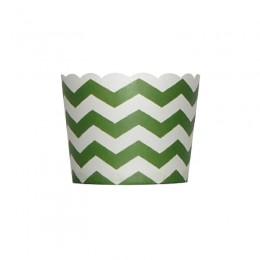 Forminhas para Cupcake de Papel Verde Escuro Zig Zag 20 uni