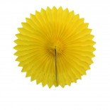 Leque de Papel Amarelo 30cm