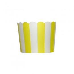 Forminhas para Cupcake de Papel Amarelo Vertical