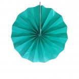 Leque de Papel Azul Tiffany Liso 20cm