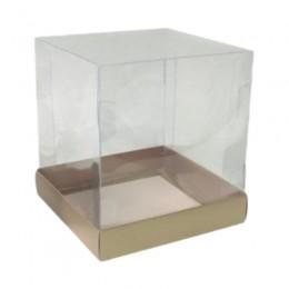 Caixa para Mini Bolo Kraft 10x10x10 com 10 un
