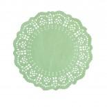 Toalha de Papel Rendada Verde 16,5cm