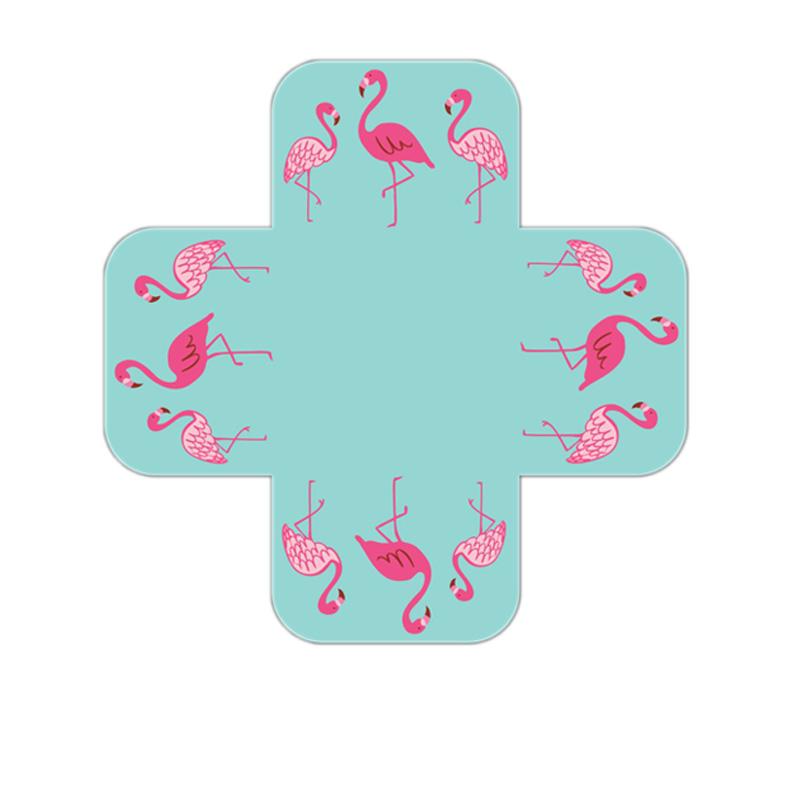 Forminhas Para Doce Flamingo Com Fundo Tiffany