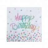 Guardanapo de Papel Happy Birthday Colorido 20 Uni