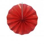 Leque de Papel Vermelho Liso 20cm