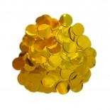 Confete Bolinha Laminado Dourado 1,5cm com 15gr