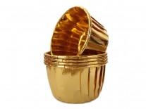 Forminhas para Cupcake Forneáveis Laminadas Douradas 20 uni