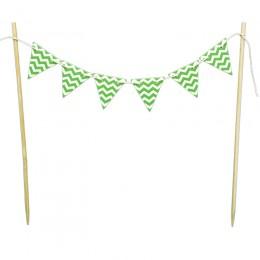 Mini Bandeirinhas para Bolo Verde Limão Zig Zag
