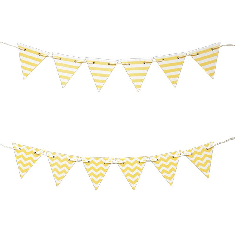 Mini Bandeirinhas Para Bolo Amarelo Sujo
