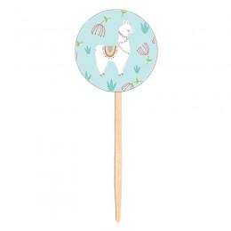 Topo para Cupcake Lhamas