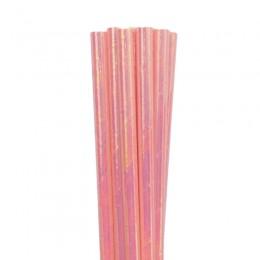 Canudos de Papel Furta-Cor Rosa Claro 20 Uni