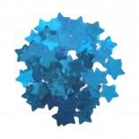 Confete Estrela Laminado Azul com 15gr