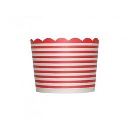 Forminhas para Cupcake de Papel Vermelho Listrado
