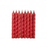 Vela Aspiral Metalizada Vermelha 8cm com 8un