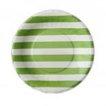 Prato de Papel Premium Listrado Verde Limão 8 Unidades
