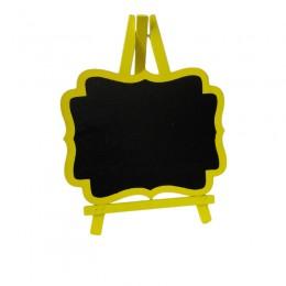 Cavalete de Madeira Amarelo Médio