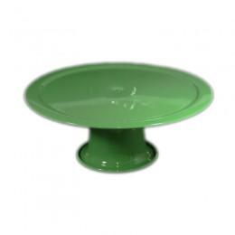 Boleira de Metal Verde Maçã 27,5x12cm