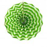 Leque de Papel Verde Limão Zig Zag 35cm