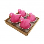 Kit Velas Flamingo com 4 un