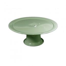 Boleira de Metal Verde Claro 21x11cm