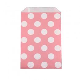 Saquinhos de Papel Rosa Claro Poá