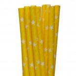 Canudos de Papel Estrela Amarelo