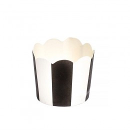 Forminhas para Mini Cupcake Preto Vertical 20 uni