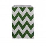 Saquinhos de Papel Verde Escuro Zig Zag 12 uni