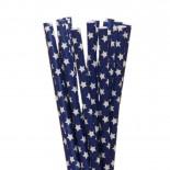 Canudos de Papel Estrela Azul Marinho 20 Uni