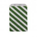 Saquinhos de Papel Verde Escuro Oblíquo