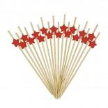 Espetinho Palito de Bambu Estrela para Petiscos 12cm com 100un