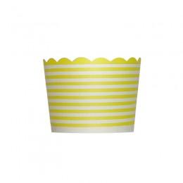 Forminhas para Cupcake de Papel Amarelo Listrado