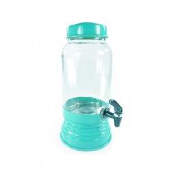 Suqueira de Vidro Azul Tiffany 3.2 Litros
