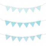 Mini Bandeirinhas para Bolo Azul Claro