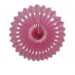 Leque de Papel Rosa Claro 30cm