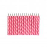 Vela Palitinho Rosa Pink 6cm com 16un