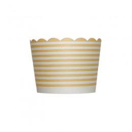 Forminhas para Cupcake de Papel Marfim Listrado