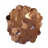 Confete Bolinha Laminado Rose Gold 1,5cm com 15gr