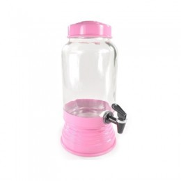 Suqueira de Vidro Rosa Claro 3.2 Litros