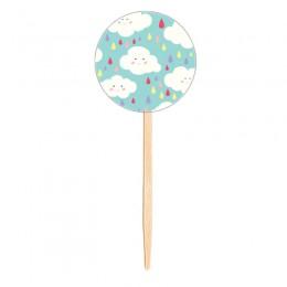 Topo para Cupcake Nuvens