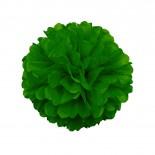 Pompom de Papel de Seda Verde Escuro 30cm