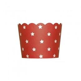 Forminhas para Cupcake de Papel Vermelho Estrela 20 uni