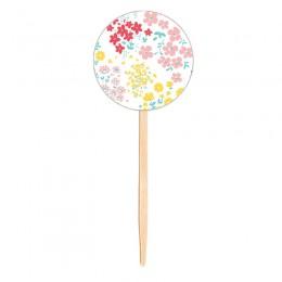 Topo para Cupcake Flores