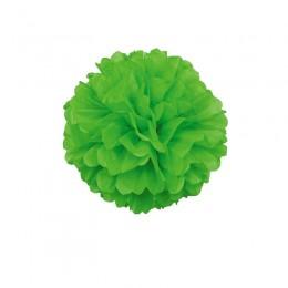 Pompom de Papel de Seda Verde Limão 20cm