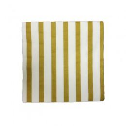 Guardanapo de Papel Listrado Dourado 20 Uni