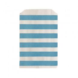 Saquinhos de Papel Azul Claro Listrado