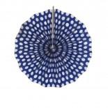 Leque de Papel Azul Marinho Poá 20cm